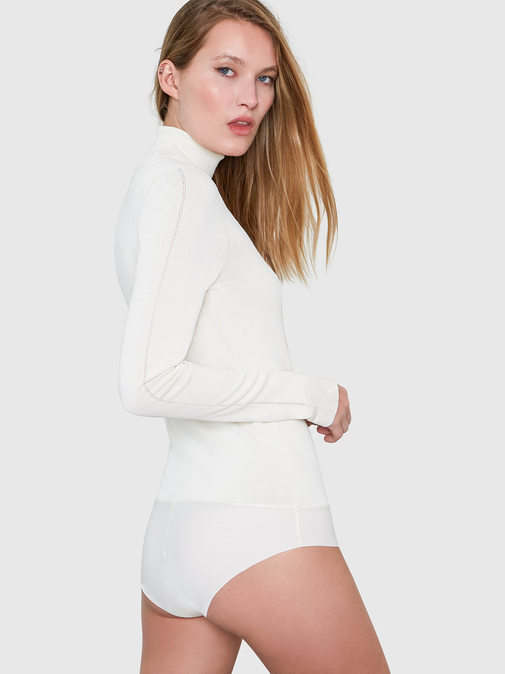 Mira Turtleneck Bodysuit | Cream