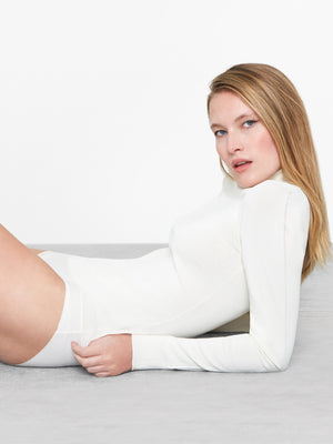Mira Turtleneck Bodysuit | Cream Mira Turtleneck Bodysuit | Cream