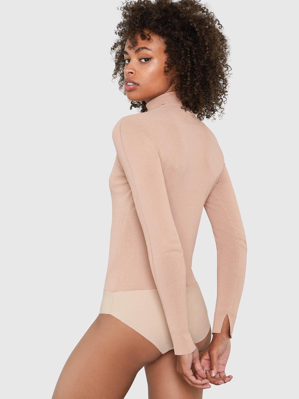 Mira Turtleneck Bodysuit | Nude