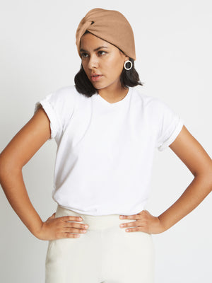 Stacy Cashmere Turban Hat | Caramel Stacy Cashmere Turban Hat | Caramel