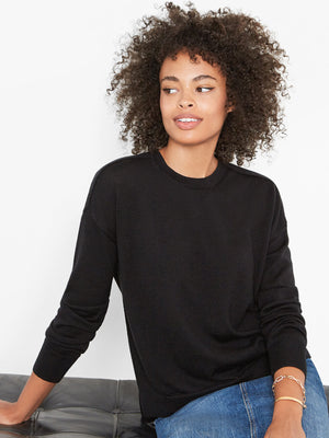 Stella Relaxed-Fit Sweater | Black Stella Relaxed-Fit Sweater | Black