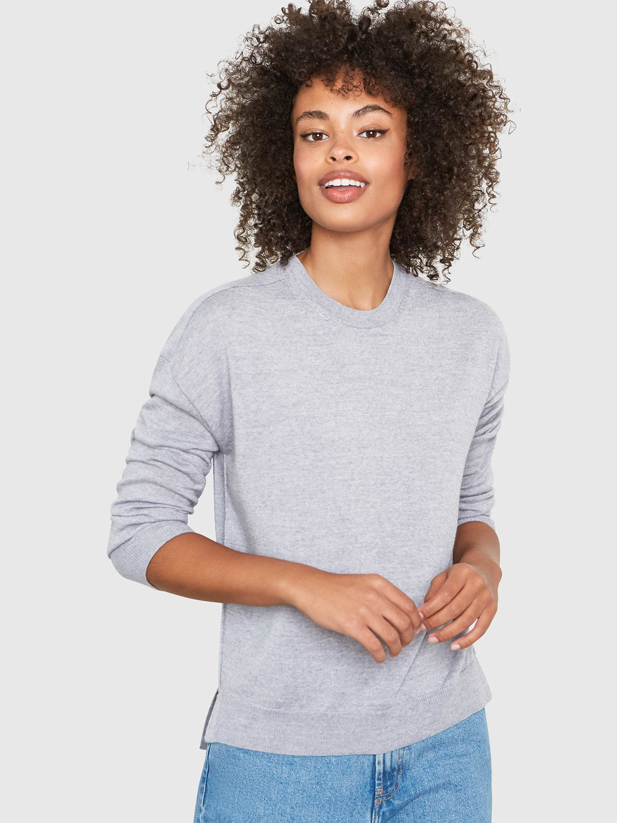 Stella Relaxed-Fit Sweater | Heather Grey Stella Relaxed-Fit Sweater | Heather Grey