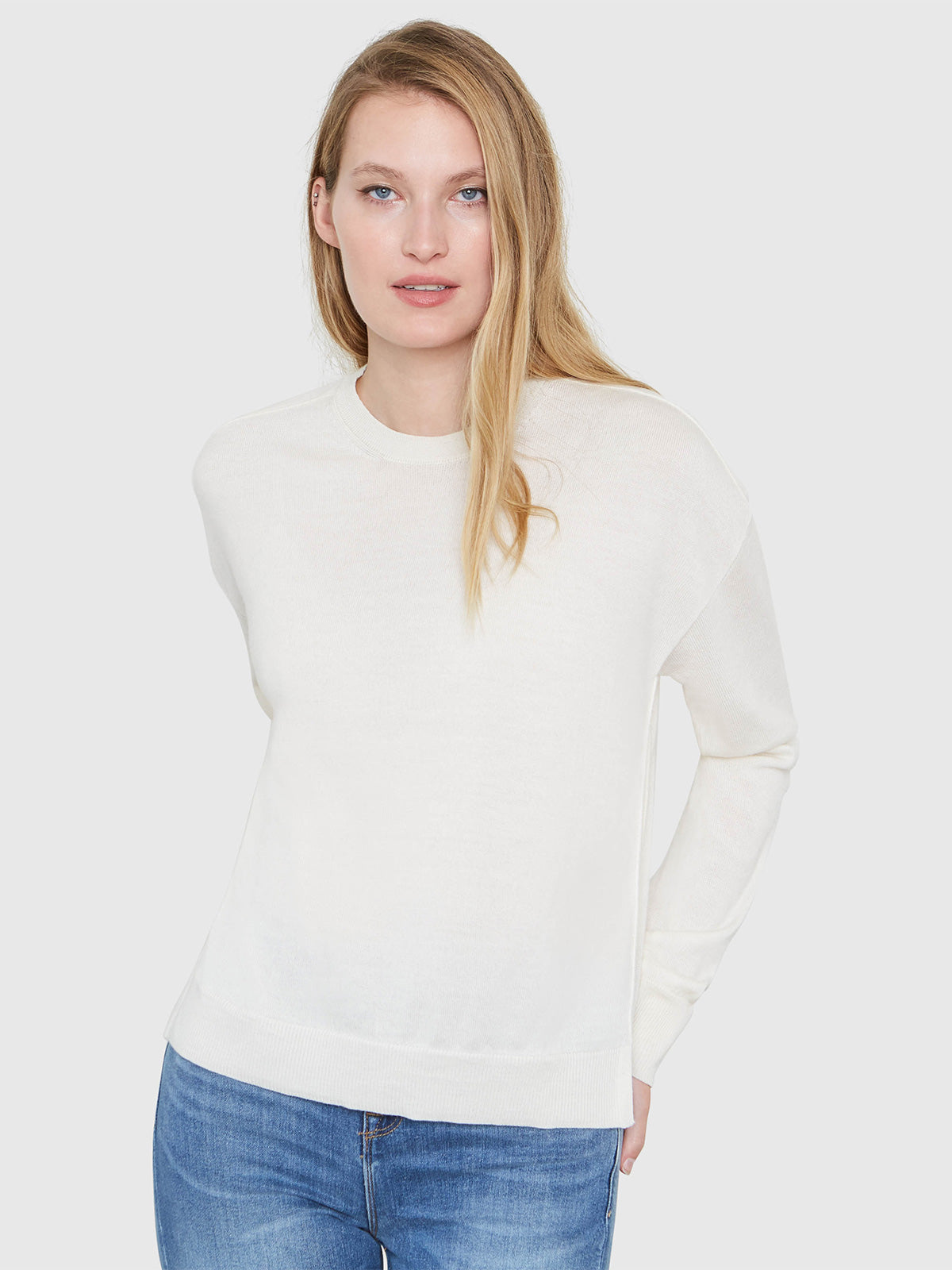 Stella Relaxed-Fit Sweater | Soft White