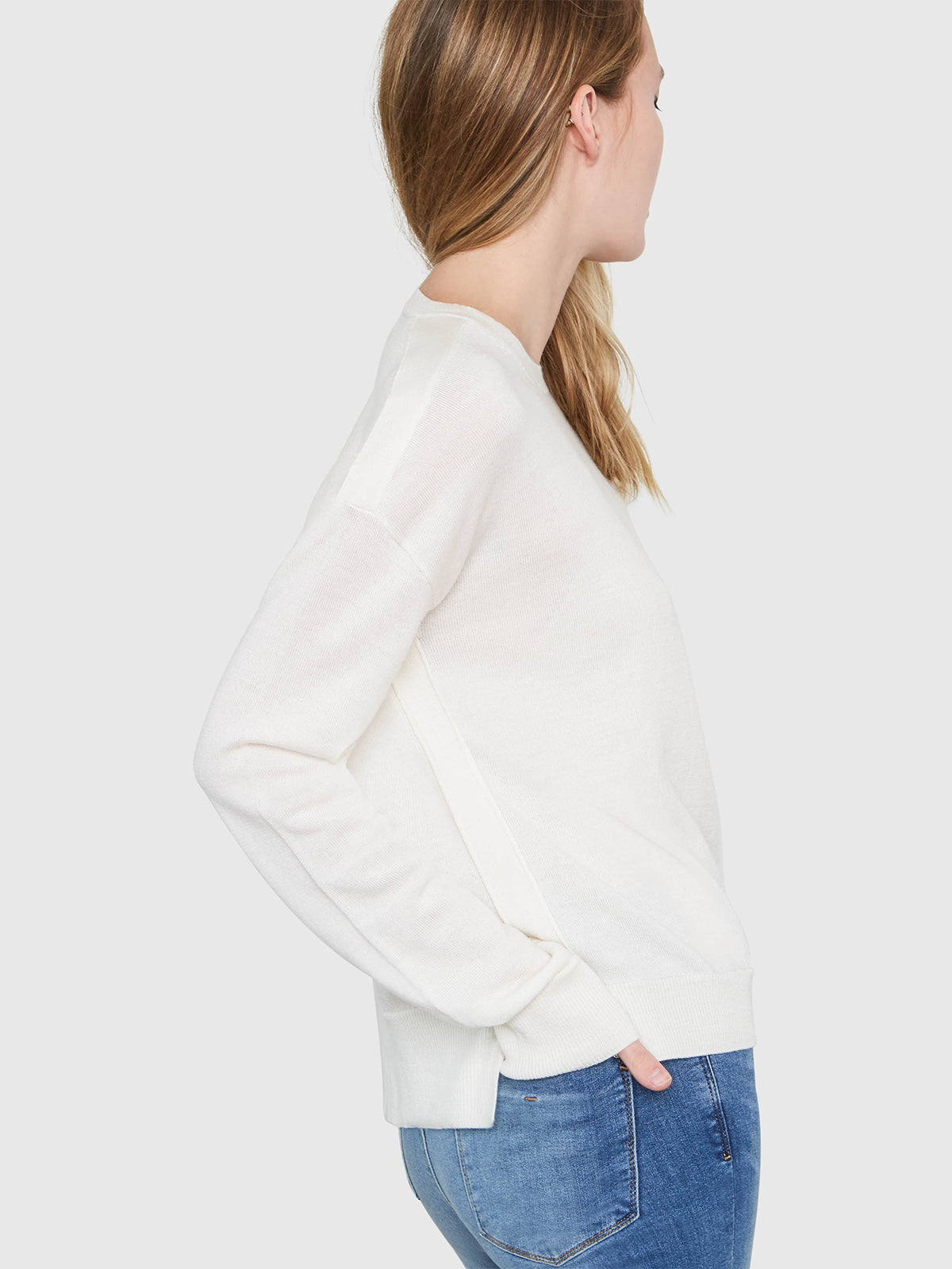 Stella Relaxed-Fit Sweater | Soft White Stella Relaxed-Fit Sweater | Soft White