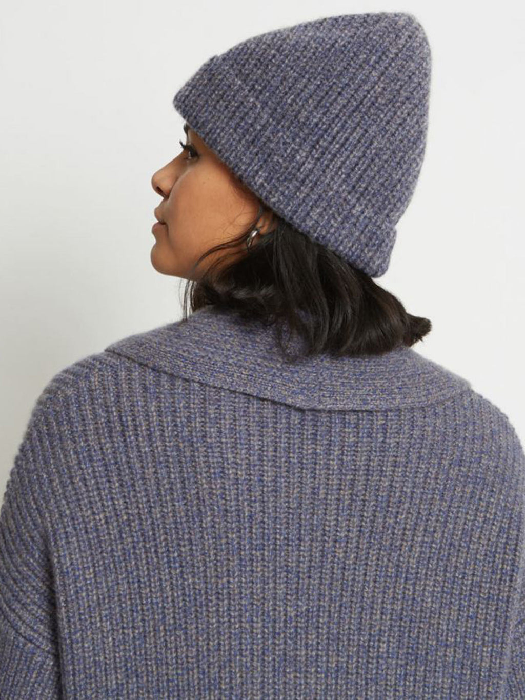 Tobe Ribbed Pure Cashmere Hat | Cobalt Stone