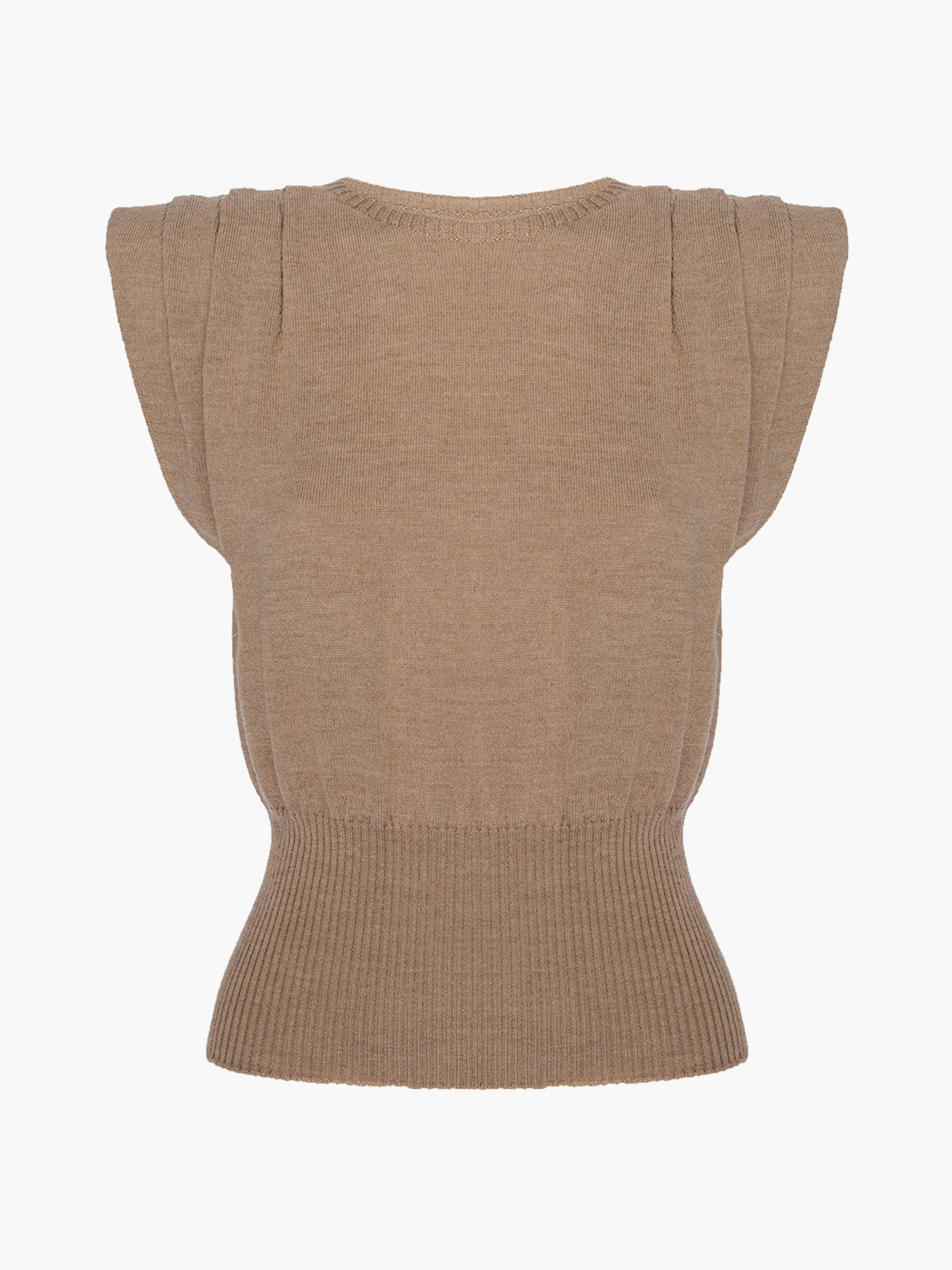 Sierra Padded Sweater | Camel