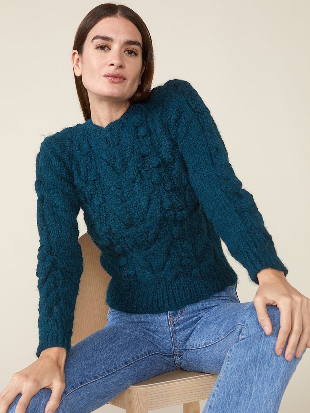 Ossie Sweater | Teal Ossie Sweater | Teal