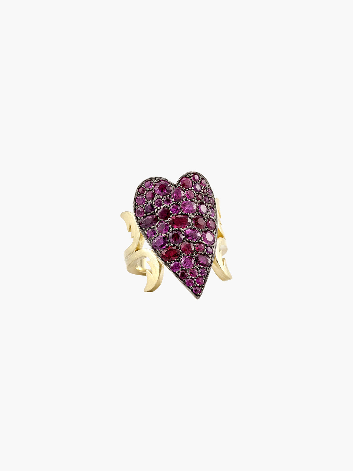 Ten Table Ruby Heart Ring