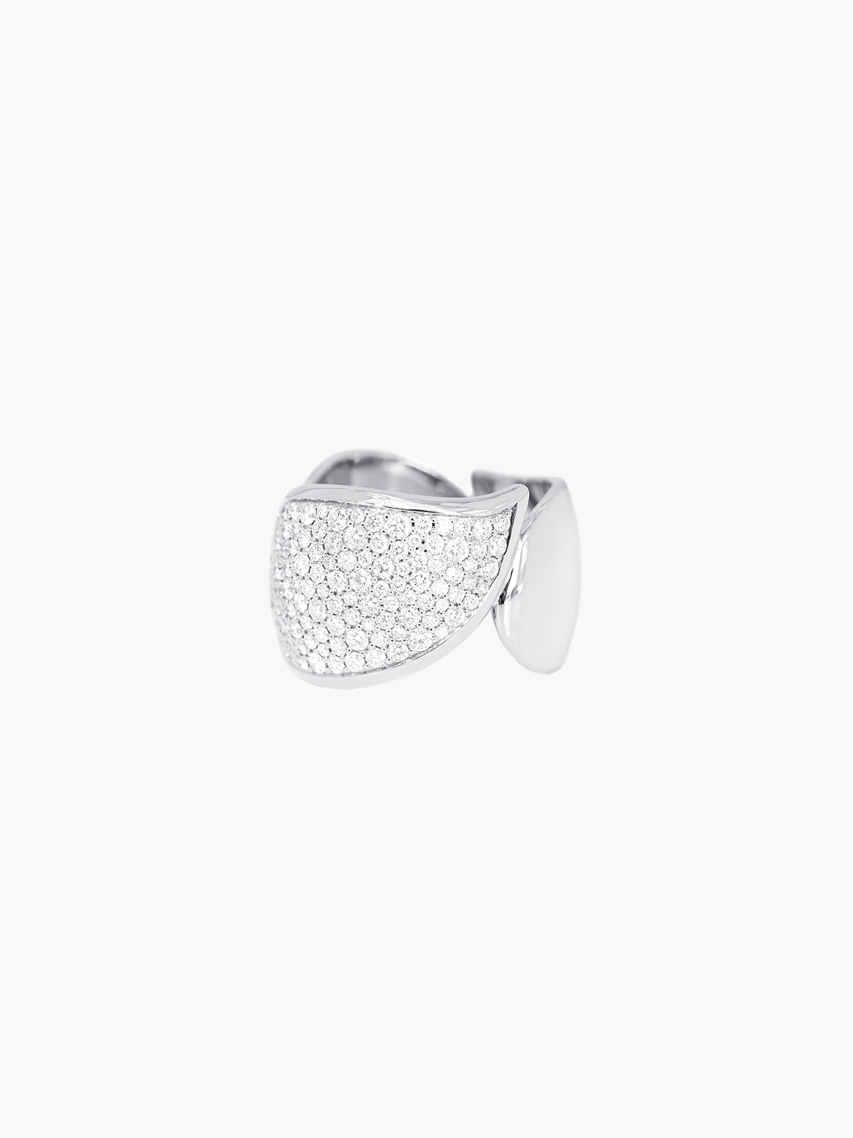 Signature Pave Wave Ring | White Gold