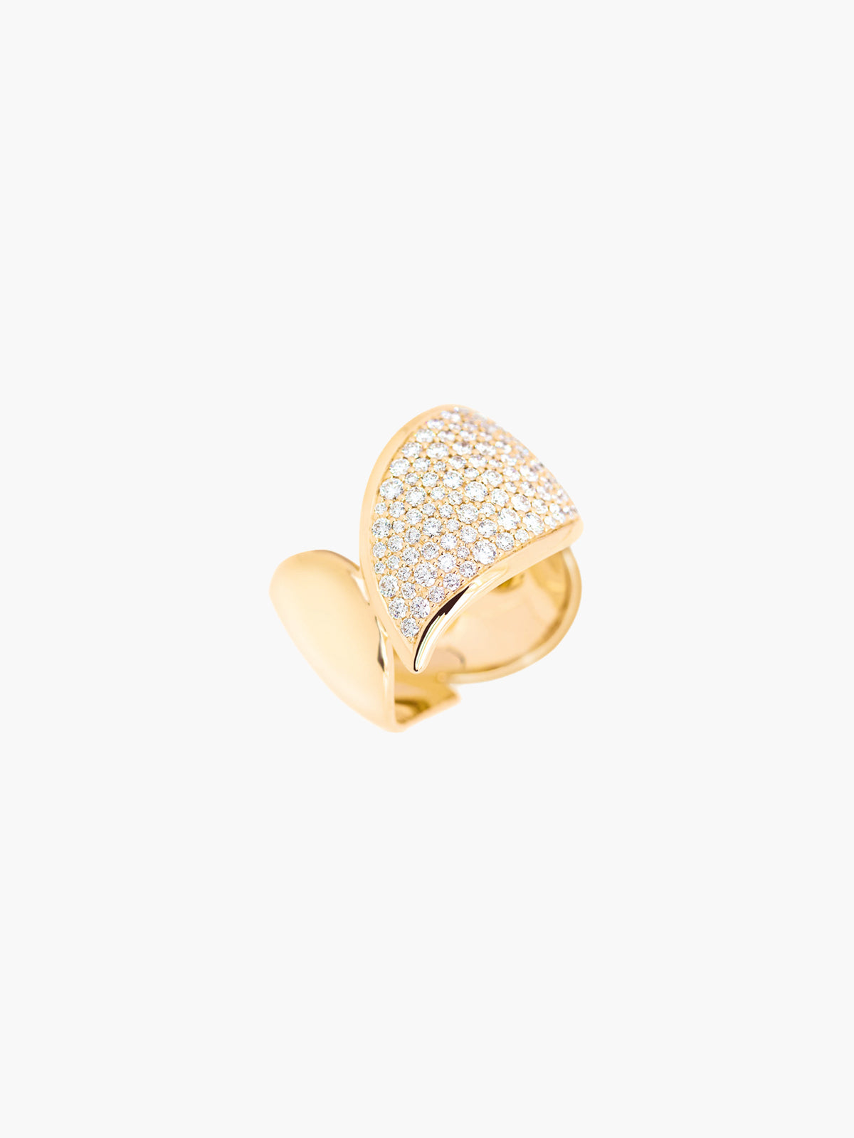 Signature Pave Wave Ring | Yellow Gold