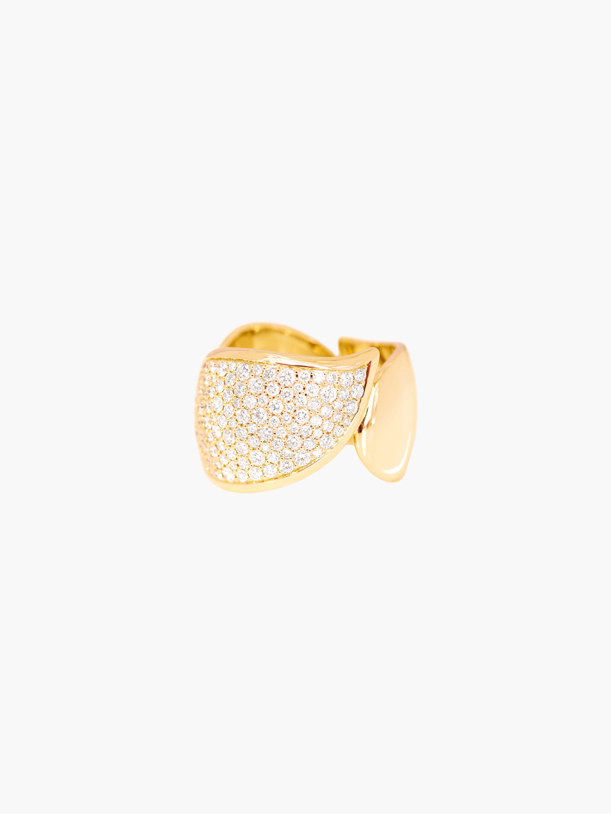 Signature Pave Wave Ring | Yellow Gold Signature Pave Wave Ring | Yellow Gold