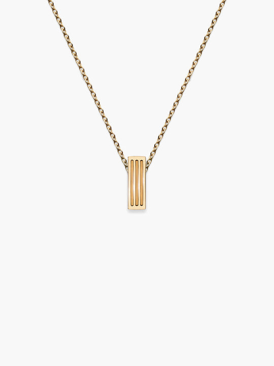 Bar Stud Fluted Pendant