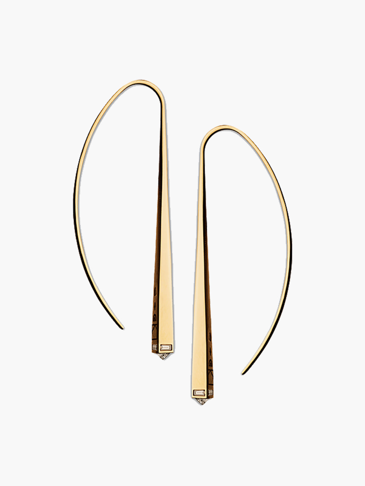 Diamond Capstone Arc Earrings