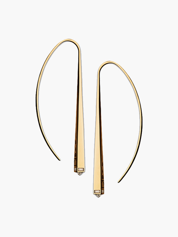 Diamond Capstone Arc Earrings Diamond Capstone Arc Earrings