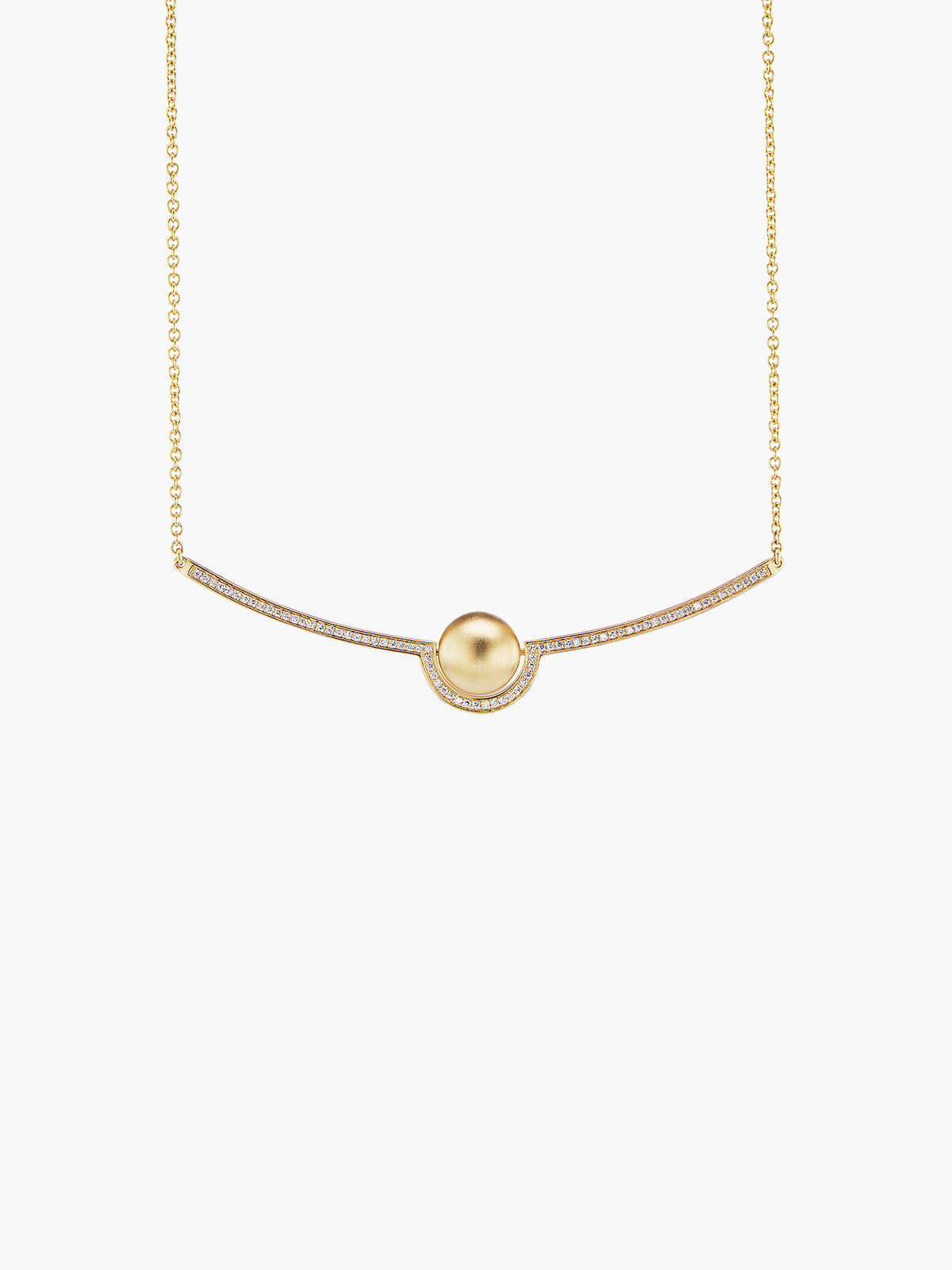 Exclusive Boule D'Or Crescent Pendant | Matte Exclusive Boule D'Or Crescent Pendant | Matte
