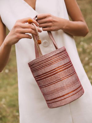 Bucket Bag | Wine & Copper Bucket Bag | Wine & Copper