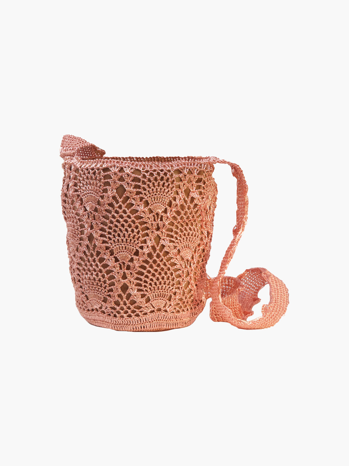 Pineapple Weave Mochila | Rose Gold & Rose