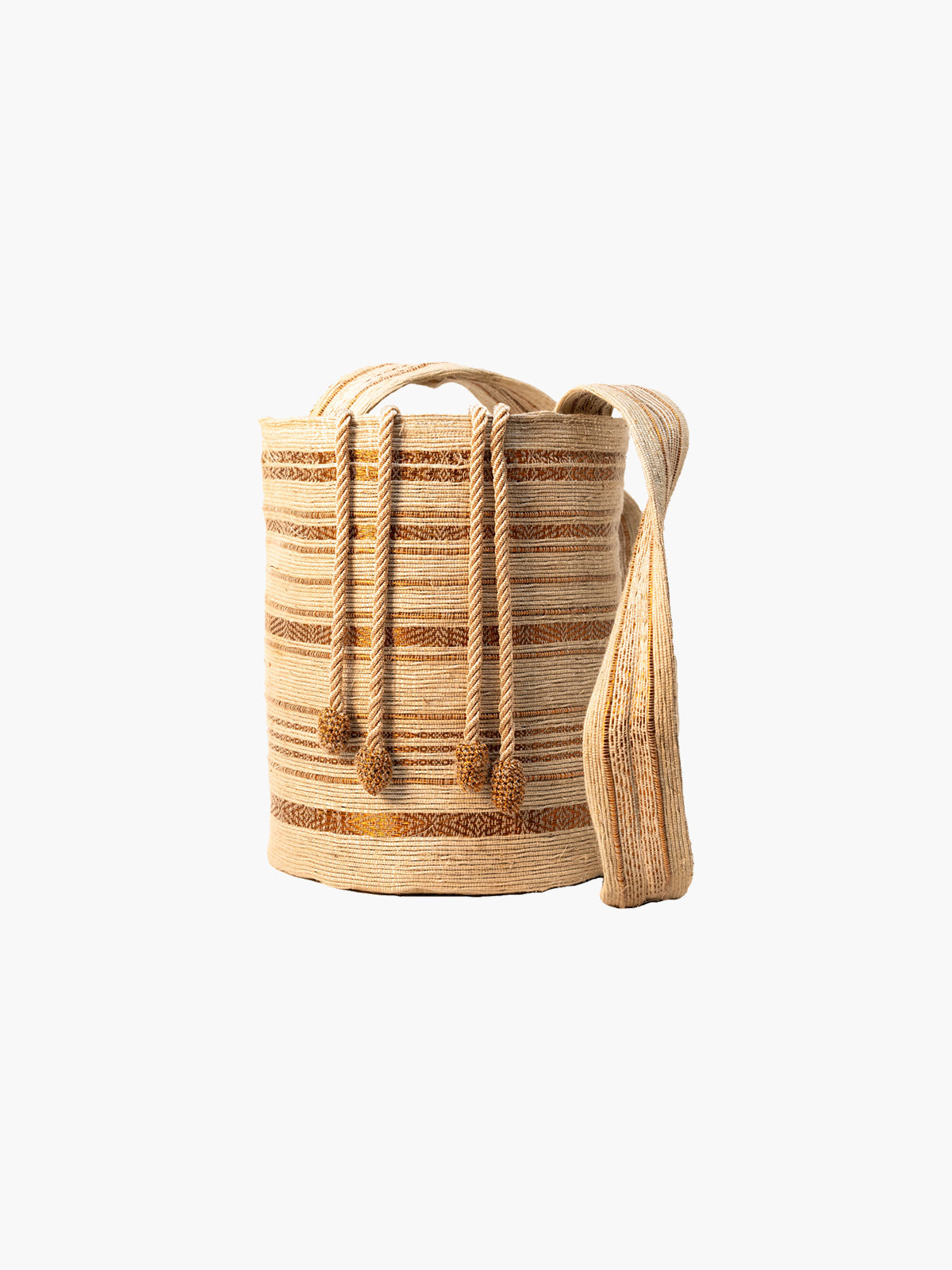 Bucket Bag | Natural & Copper