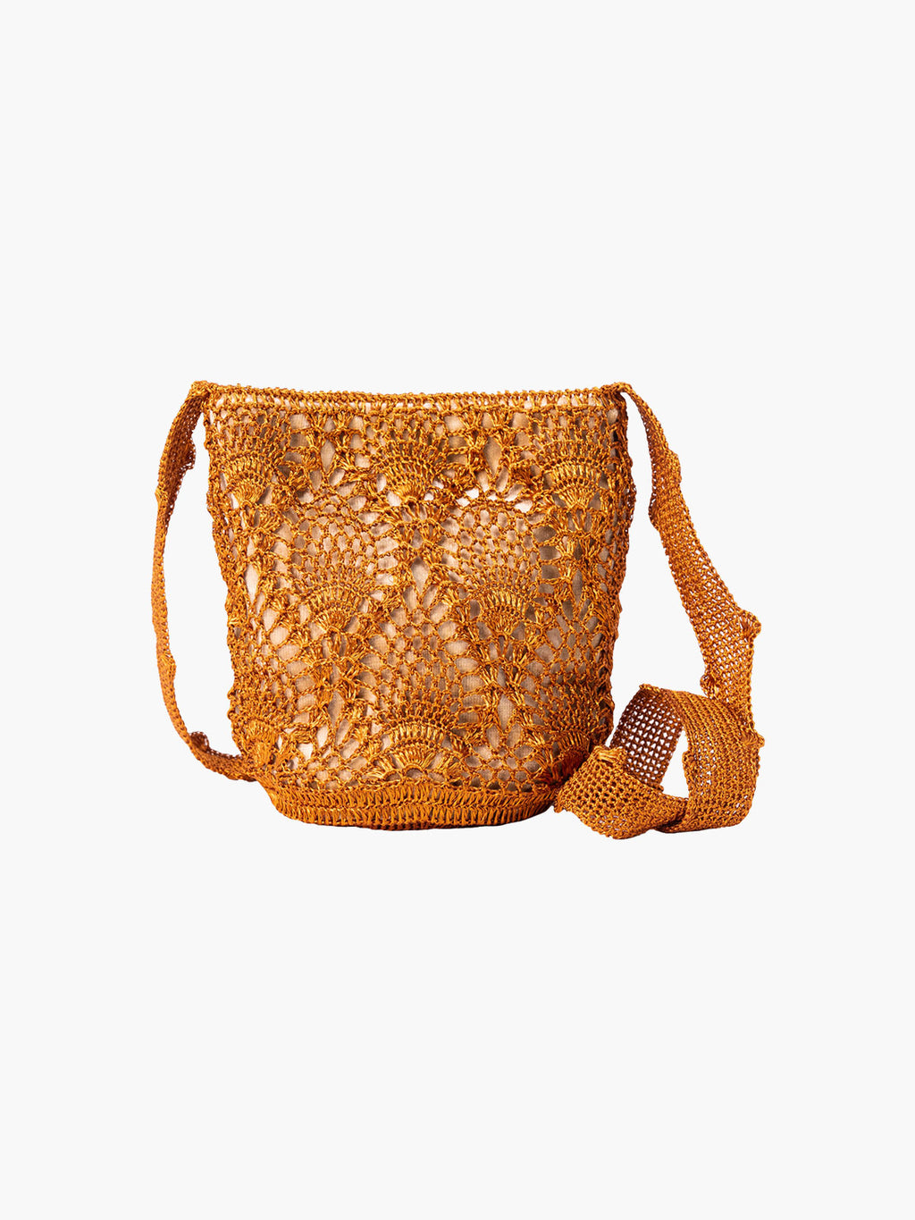 Pineapple Weave Mochila | Copper & Beige