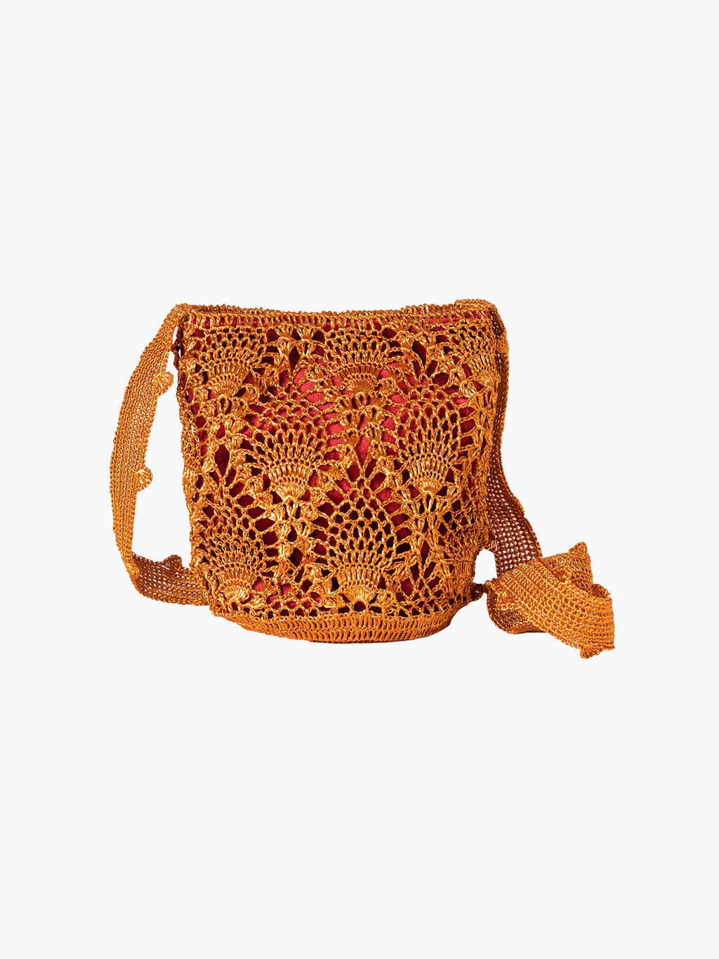 Pineapple Weave Mochila | Copper & Wine