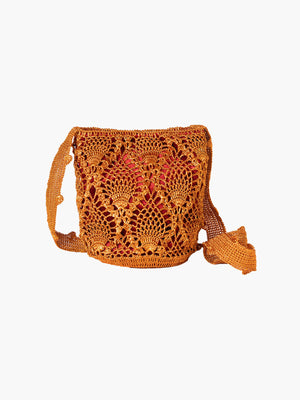 Pineapple Weave Mochila | Copper & Wine Pineapple Weave Mochila | Copper & Wine