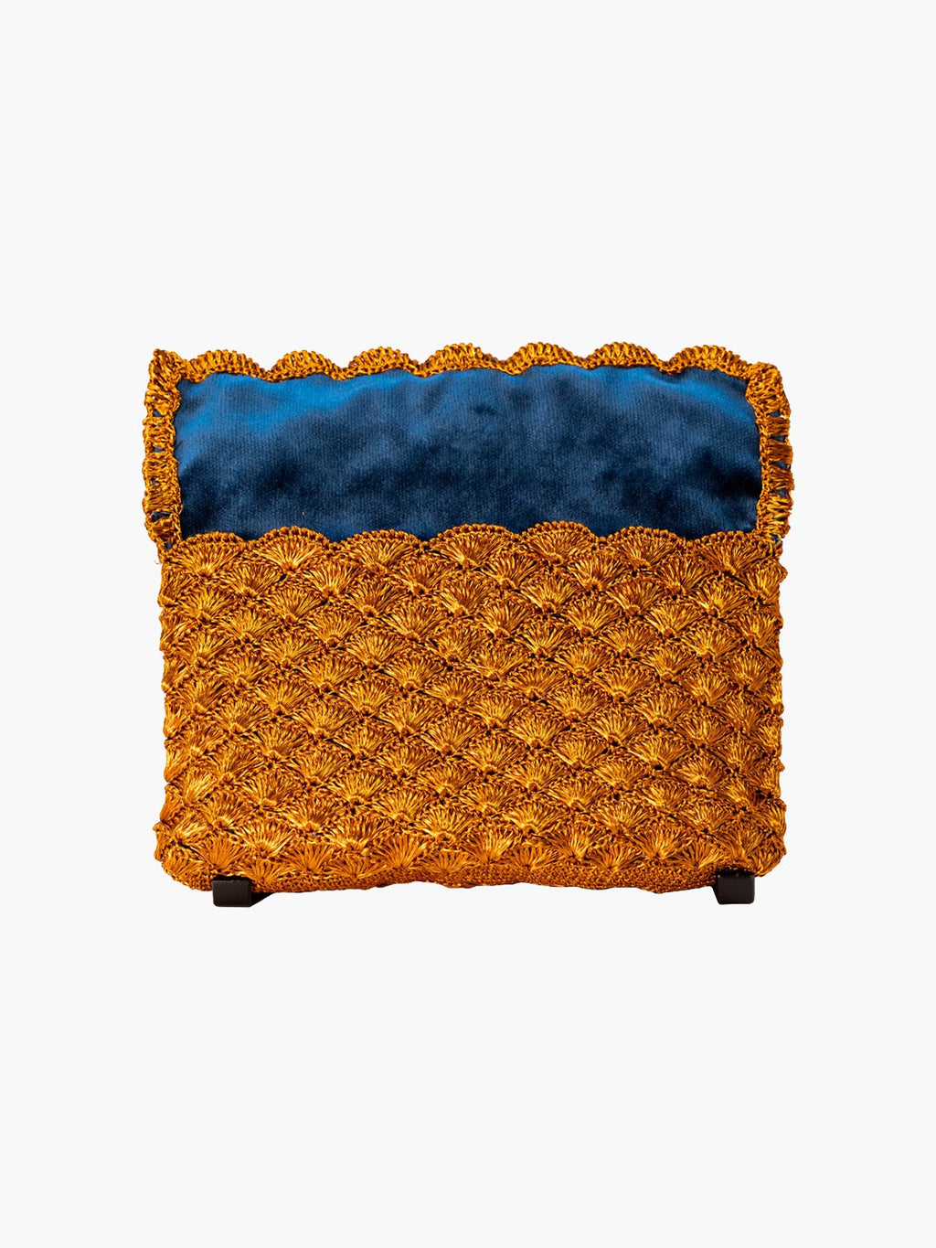 Seashell Weave Mini Metal Clutch | Copper