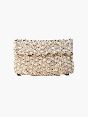 Seashell Weave Mini Metal Clutch | Silver Seashell Weave Mini Metal Clutch | Silver