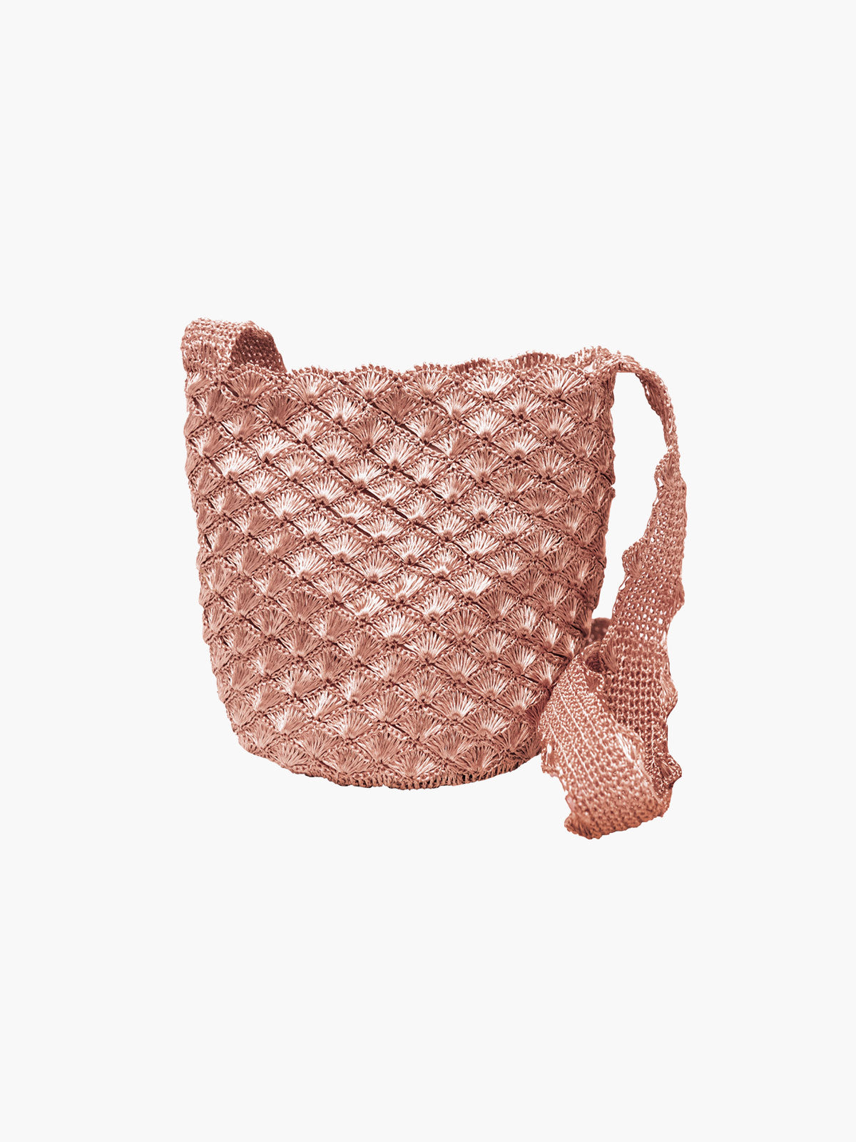 Seashell Weave Mochila | Rose Gold