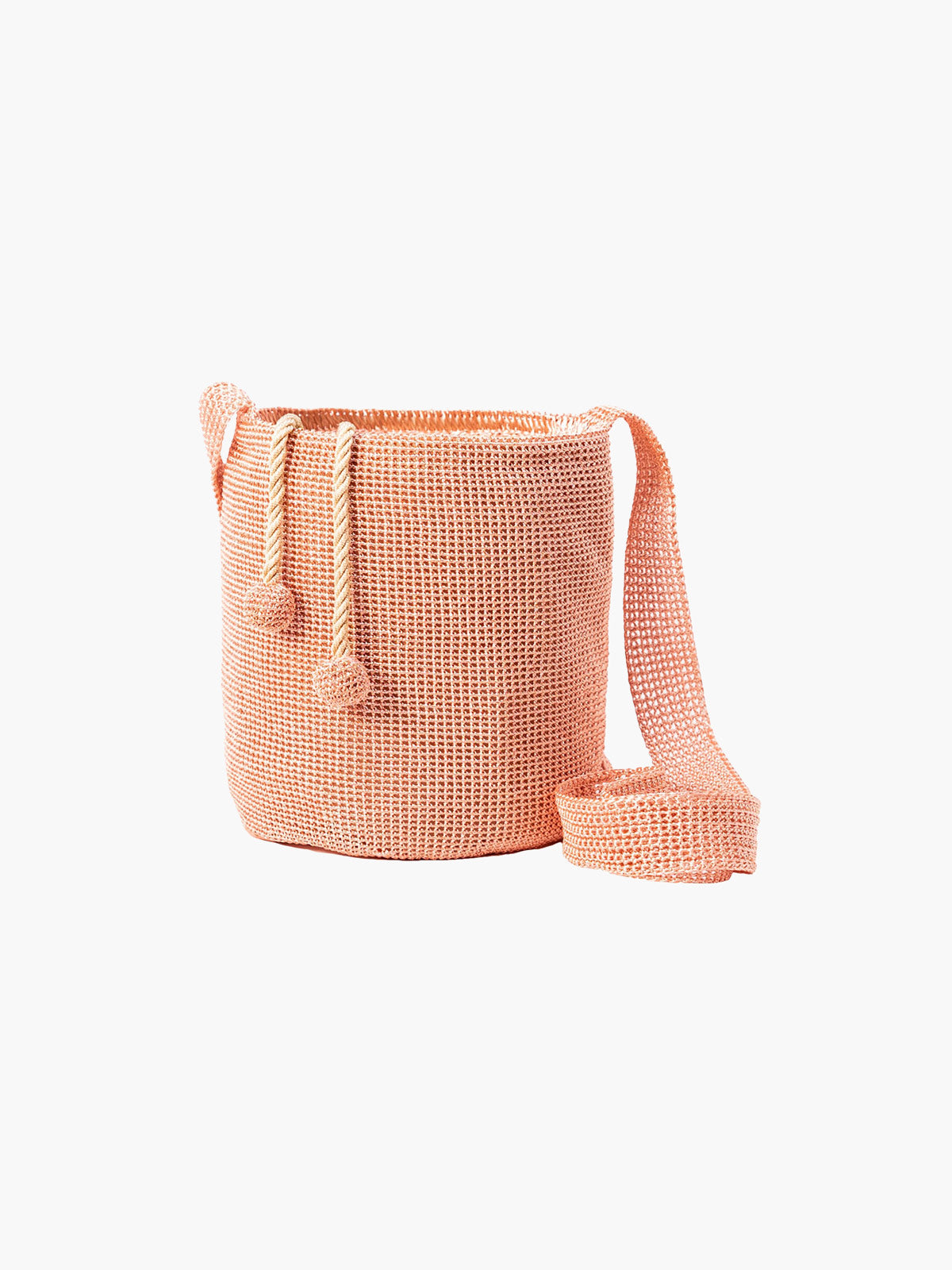 Traditional Weave Mochila | Rose Gold