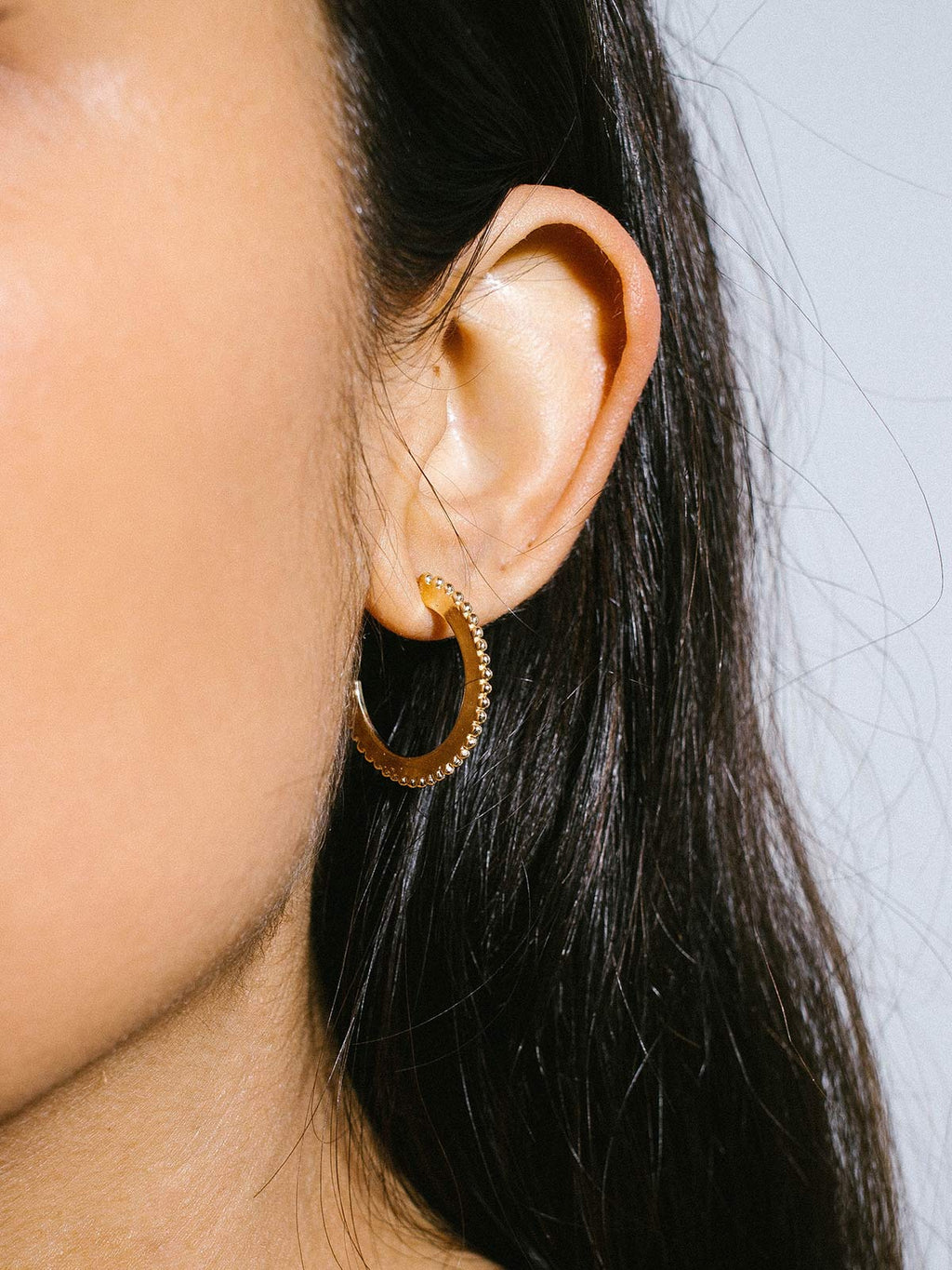 Large Dotted Hoops