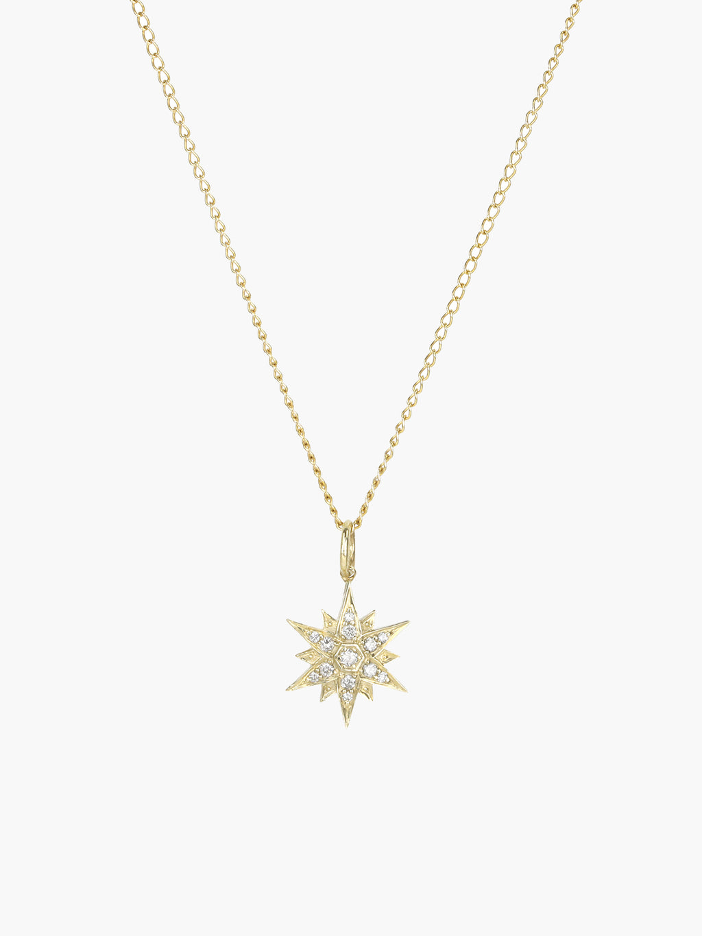 North Star Charm | Yellow Gold