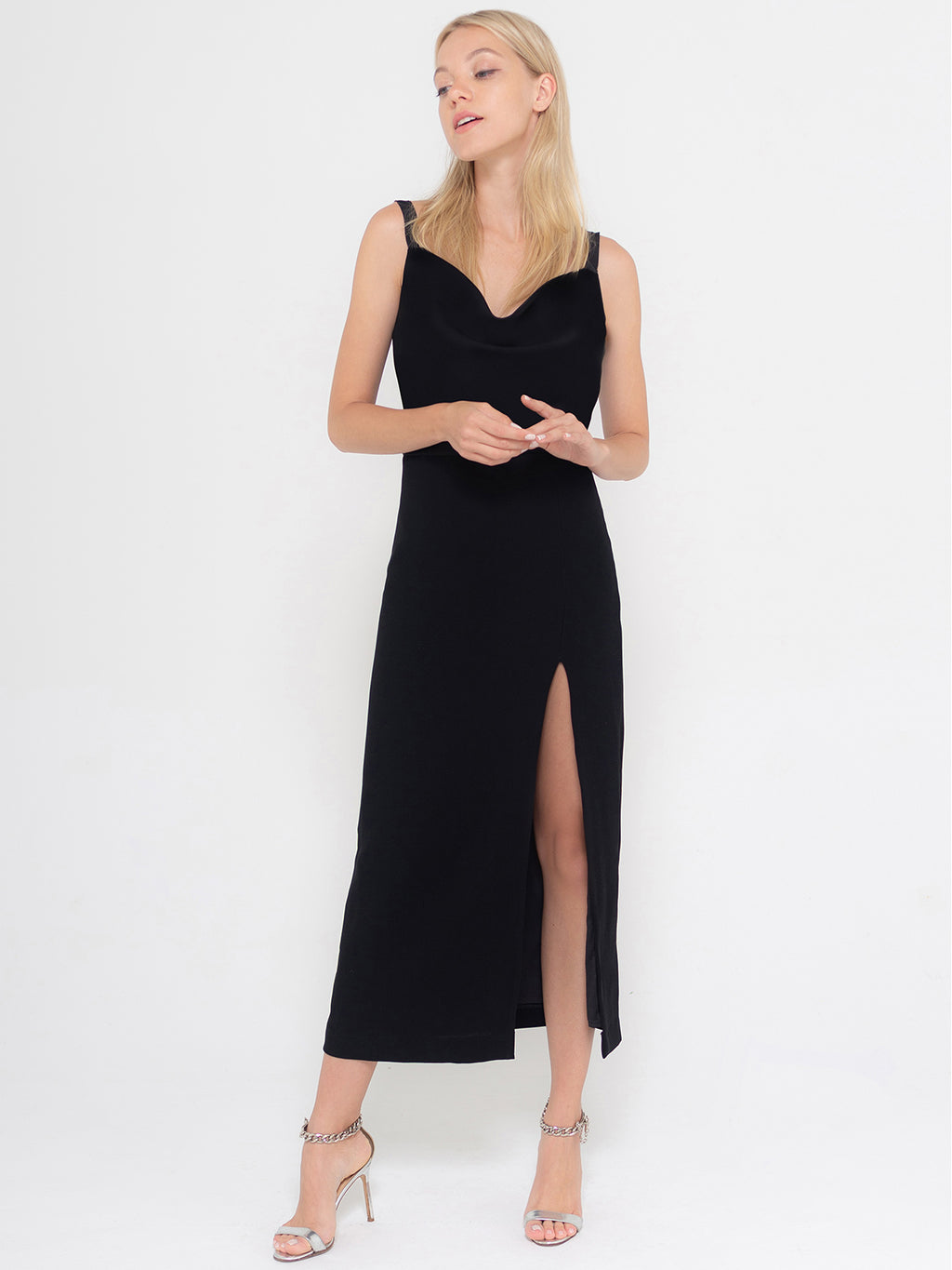 Gaby Cocktail Dress | Black Crepe