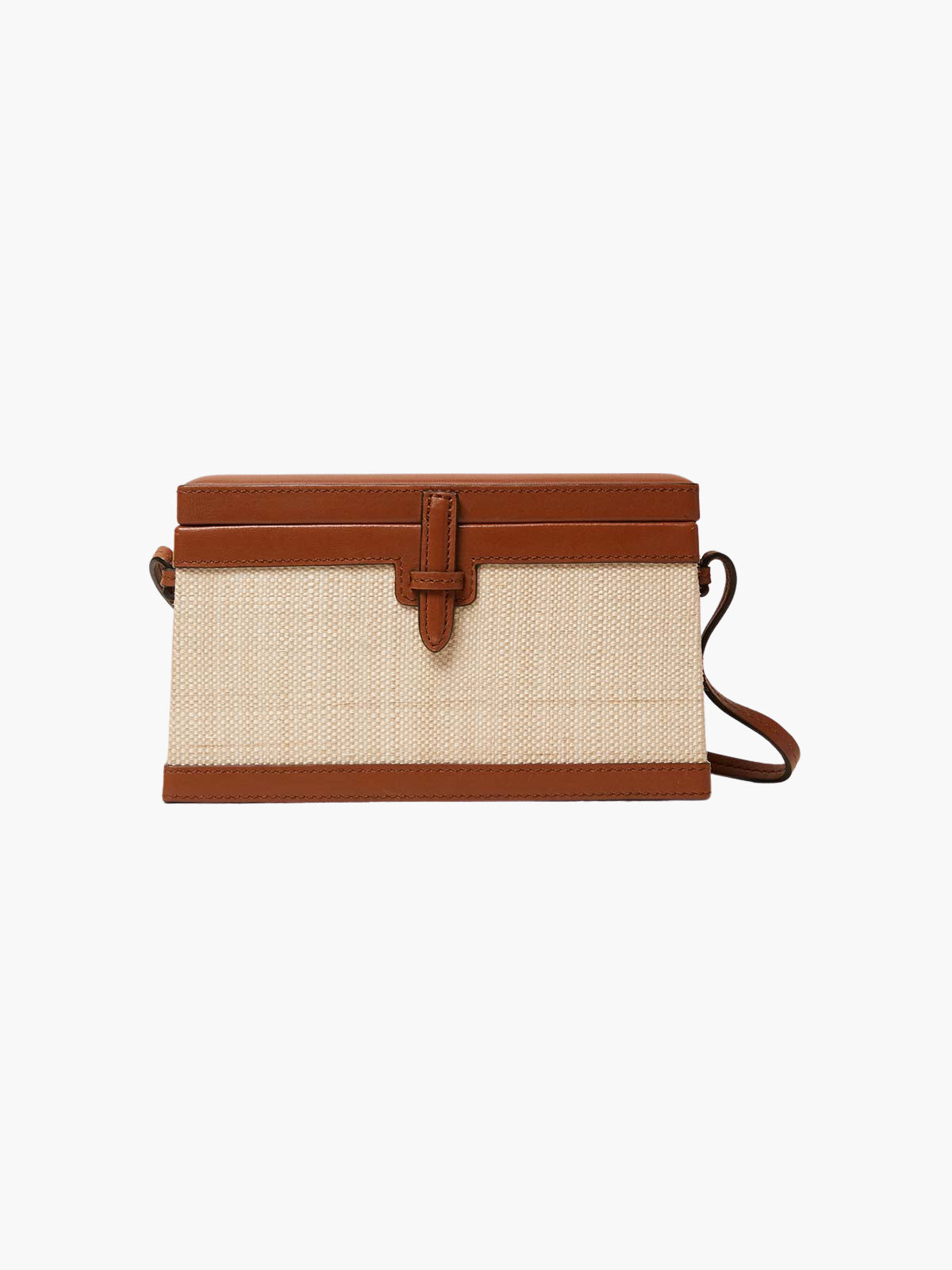 Square Trunk Bag | Cognac Iraca