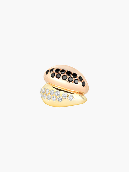 Sumerian Pinky Ring | Black Diamond