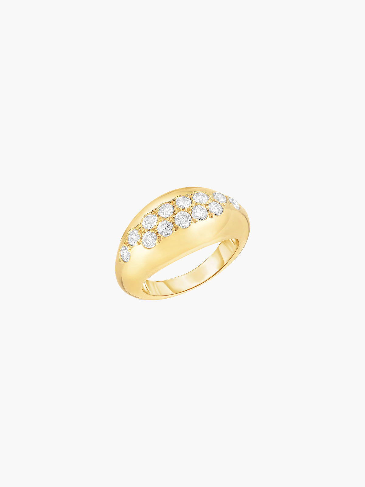 Sumerian Pinky Ring | White Diamond Sumerian Pinky Ring | White Diamond