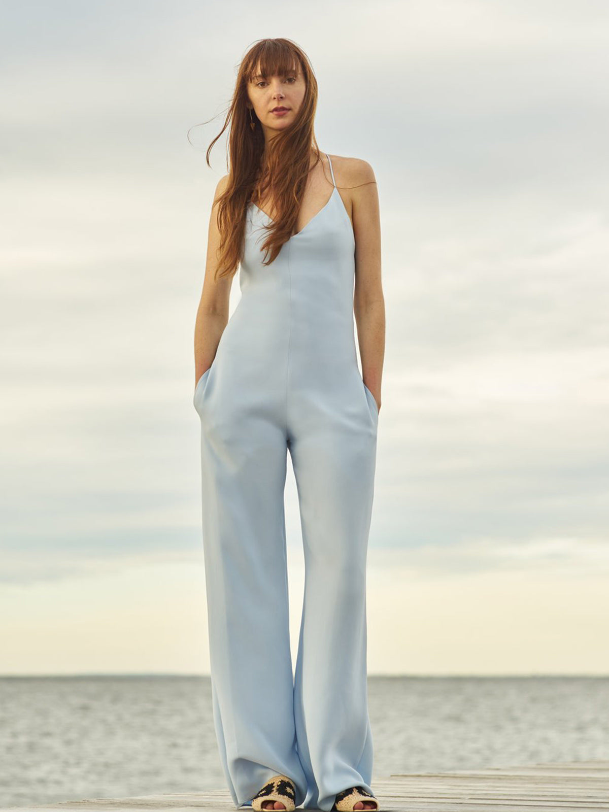 Simone Jumpsuit | Light Blue