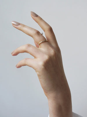 Crescendo Pin Ring | 18K Rose Gold Crescendo Pin Ring | 18K Rose Gold