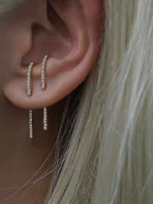 The Petite Ear Pin Diamonds | 18K White Gold The Petite Ear Pin Diamonds | 18K White Gold