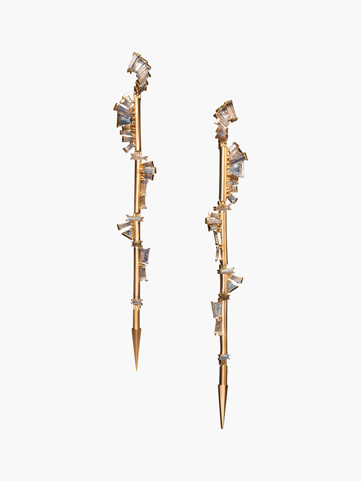 Twisted Ruffle Spike Earrings