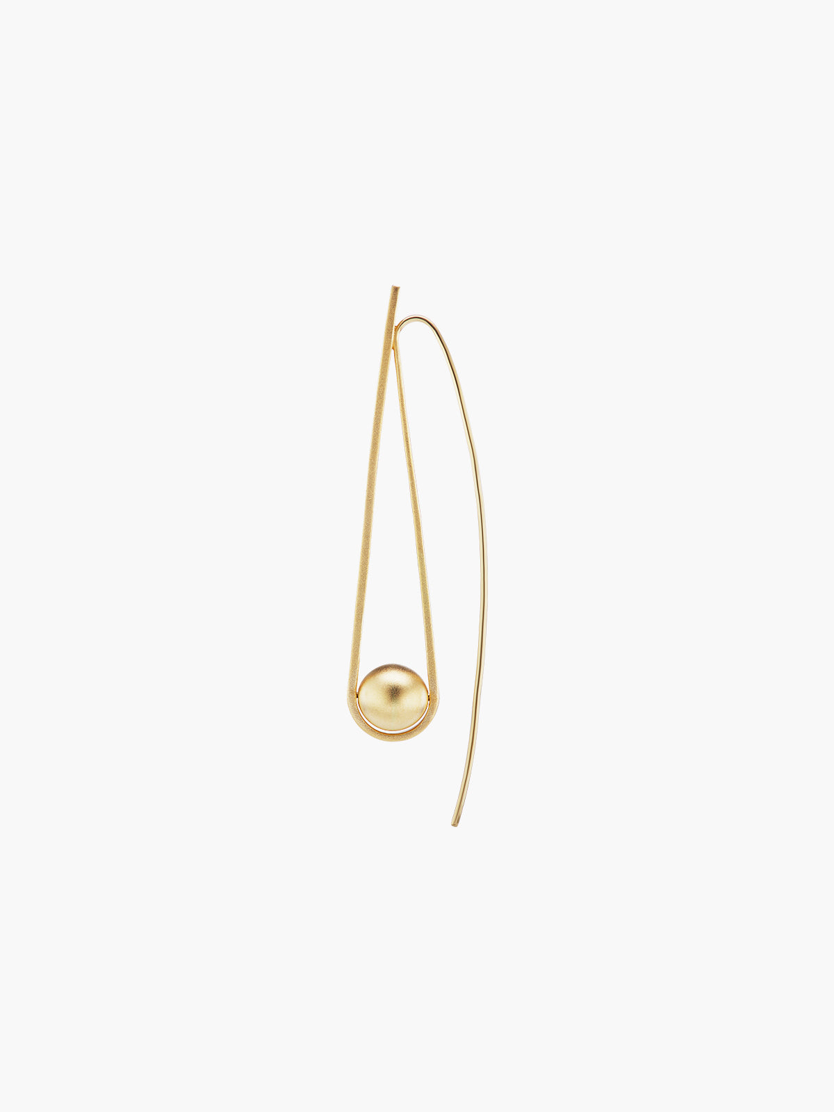 Boule D'Or Arc Earring | Matte Boule D'Or Arc Earring | Matte