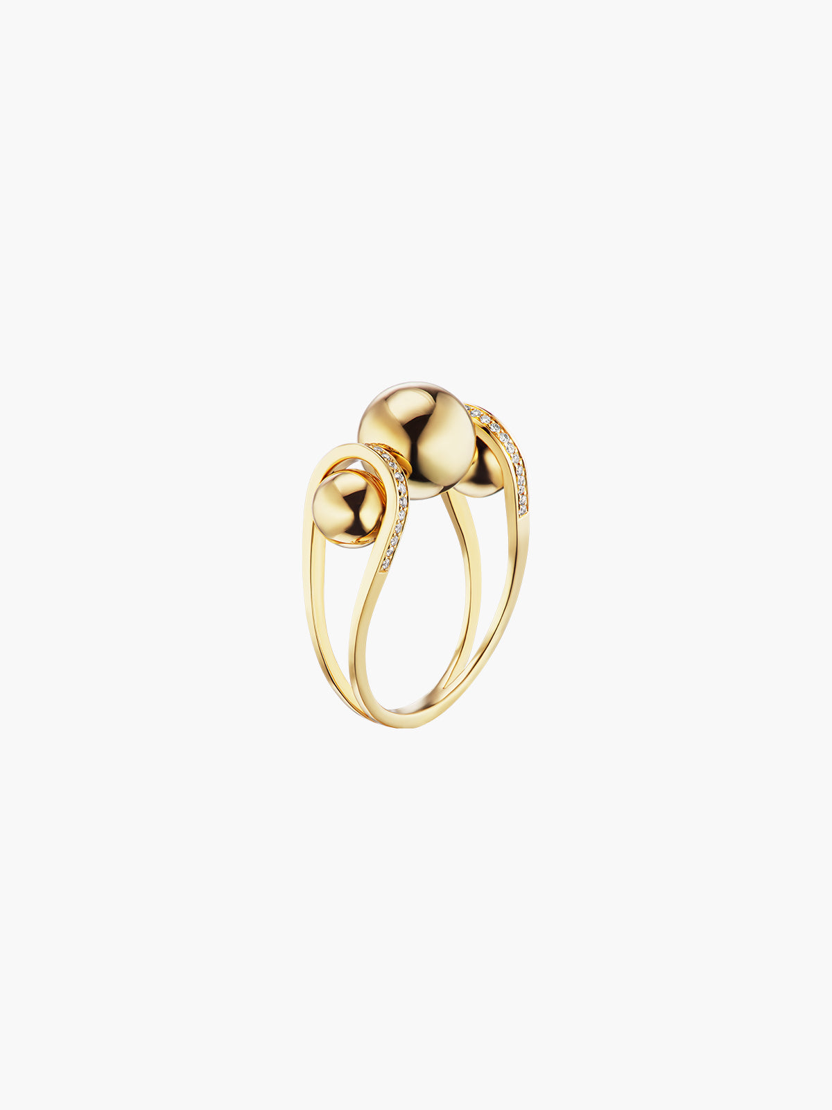 Boule D'Or Double Lariat Ring | High Polish Boule D'Or Double Lariat Ring | High Polish