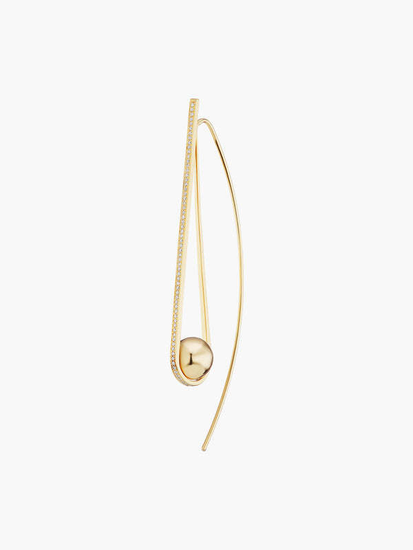 Boule D'Or Arc Earring | High Polish Boule D'Or Arc Earring | High Polish
