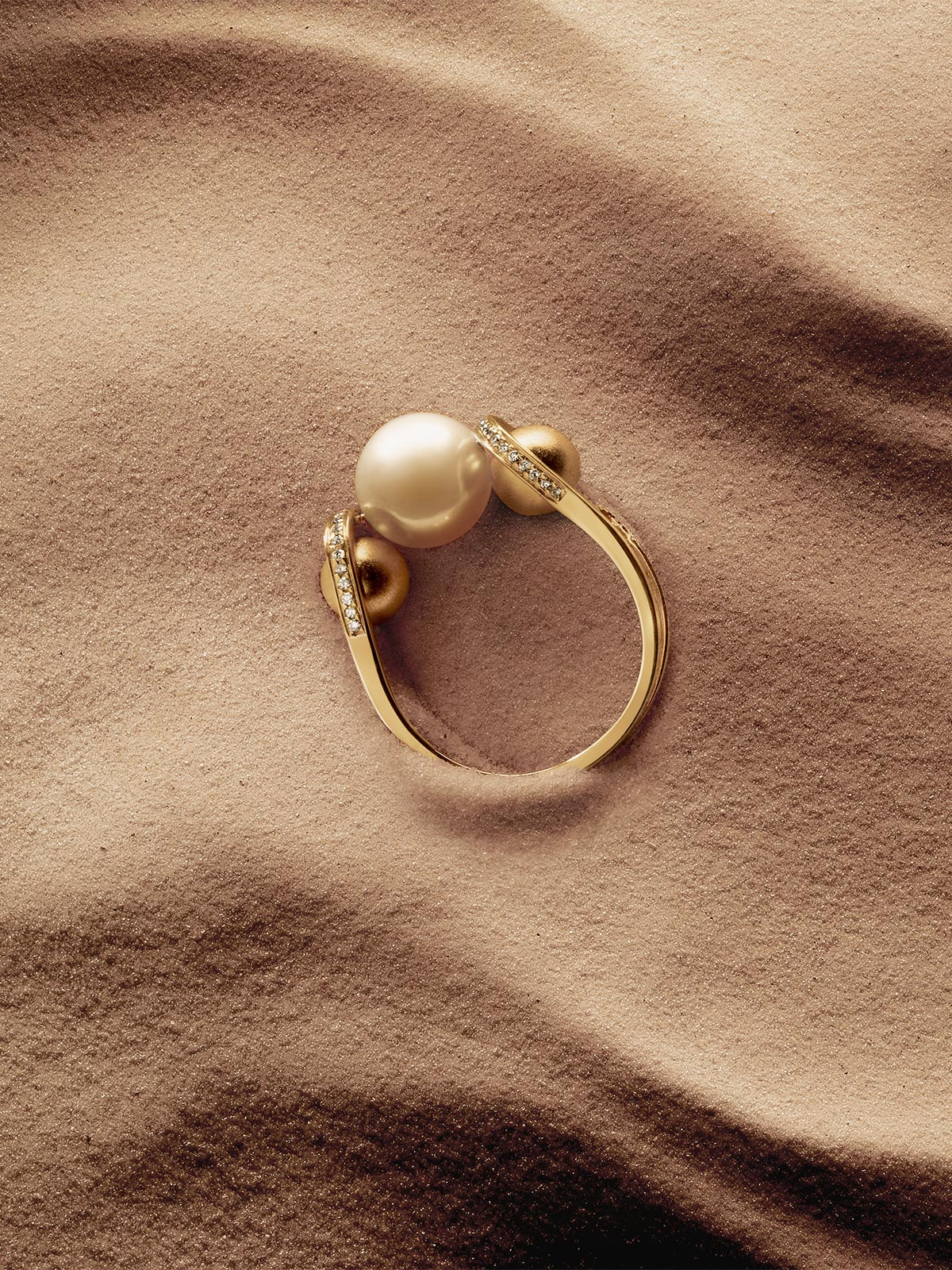Boule D'Or Double Lariat Ring | High Polish