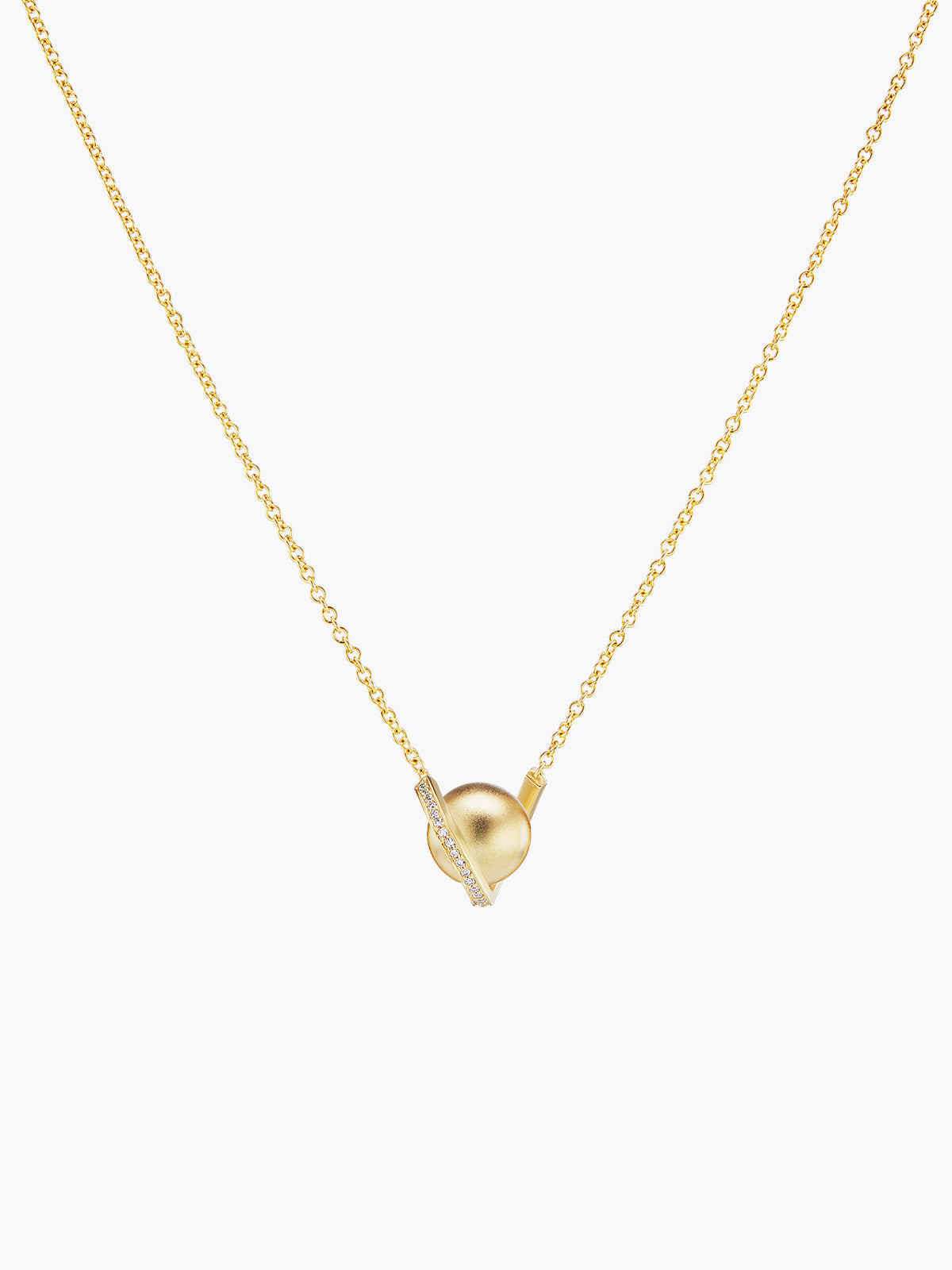 Exclusive Boule D'Or Solitaire Pendant | Matte