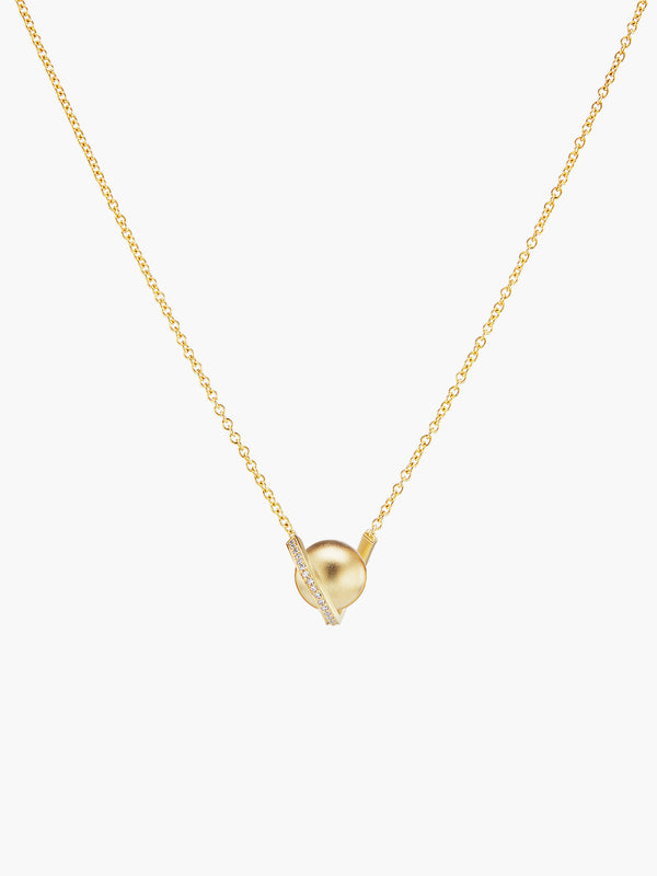 Exclusive Boule D'Or Solitaire Pendant | Matte Exclusive Boule D'Or Solitaire Pendant | Matte