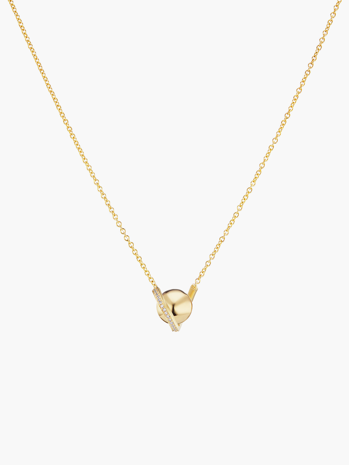 Boule D'Or Solitaire Pendant | High Polish