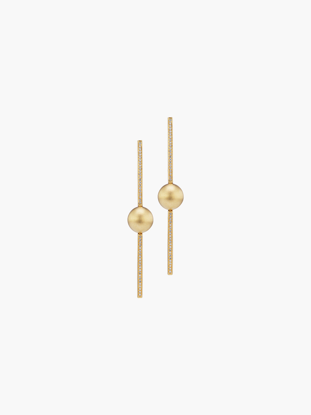 Boule D'Or Stick Earring | Matte Boule D'Or Stick Earring | Matte