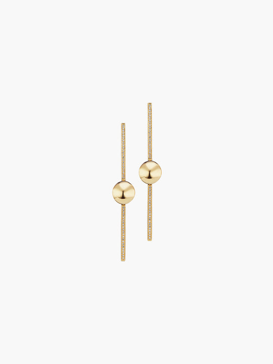 Boule D'Or Stick Earring | High Polish