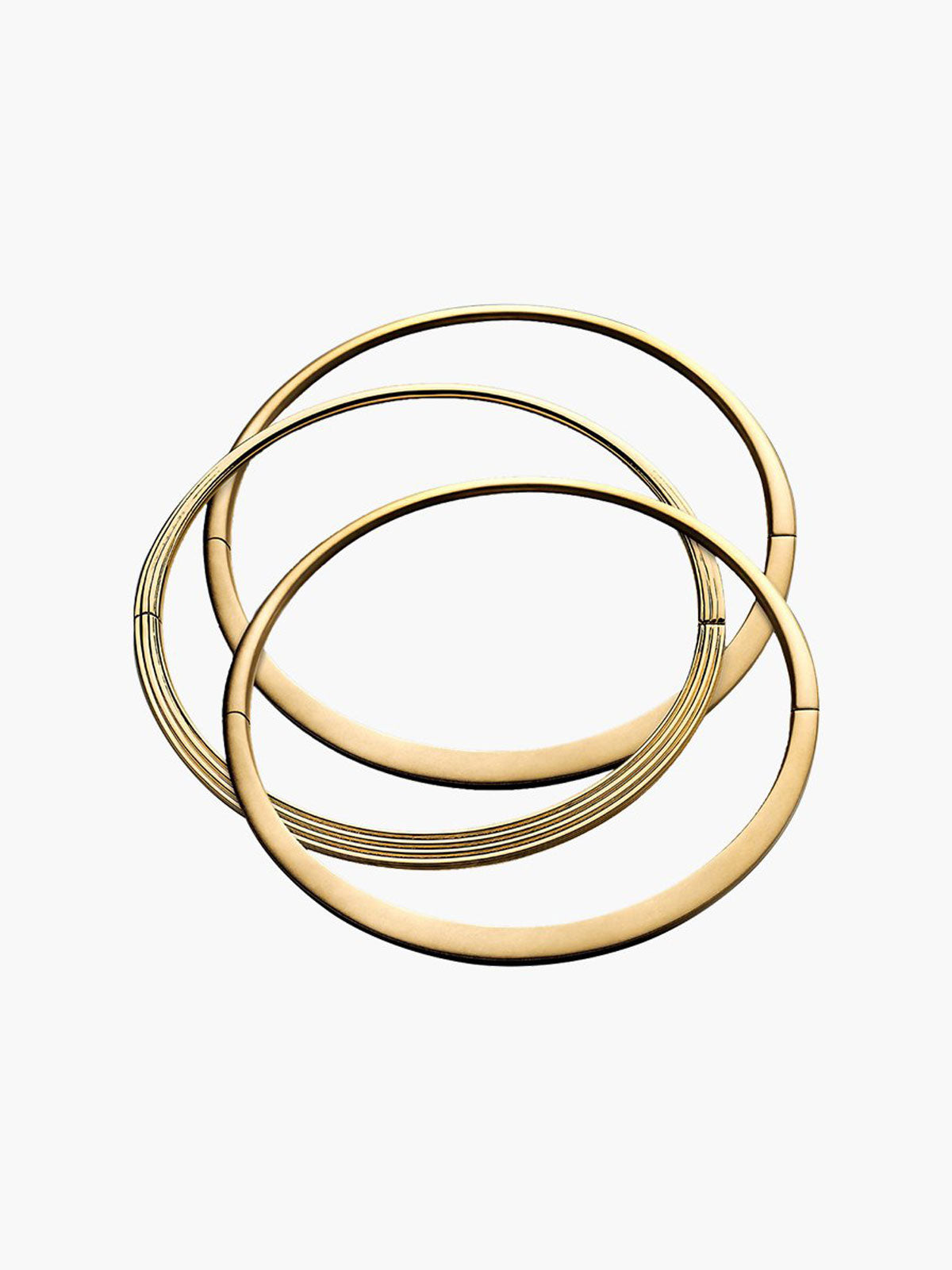 Exclusive Hinged Oval Bangle Set