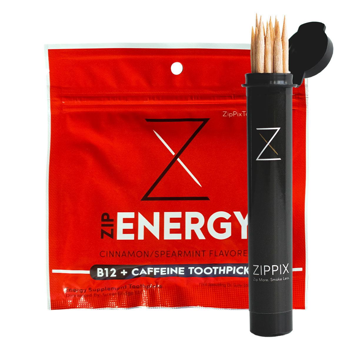 ZipEnergy® B12 + 7mg Caffeine Toothpicks